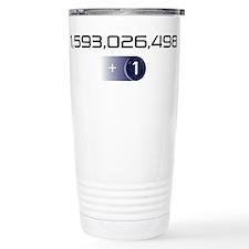 +1 on light color background Travel Mug