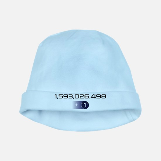 +1 on light color background baby hat