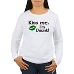Kiss Me I'm Drunk Women's Long Sleeve T-Shirt