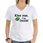 Kiss Me I'm Drunk Women's V-Neck T-Shirt