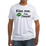 Kiss Me I'm Drunk Fitted T-Shirt