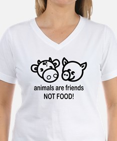 Animals Are Friends Women's Pink T-Shirt