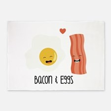Bacon & Eggs 5'x7'Area Rug