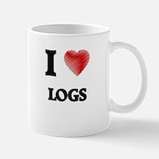 I Love Logs Mugs