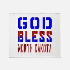 God Bless North Dakota Throw Blanket
