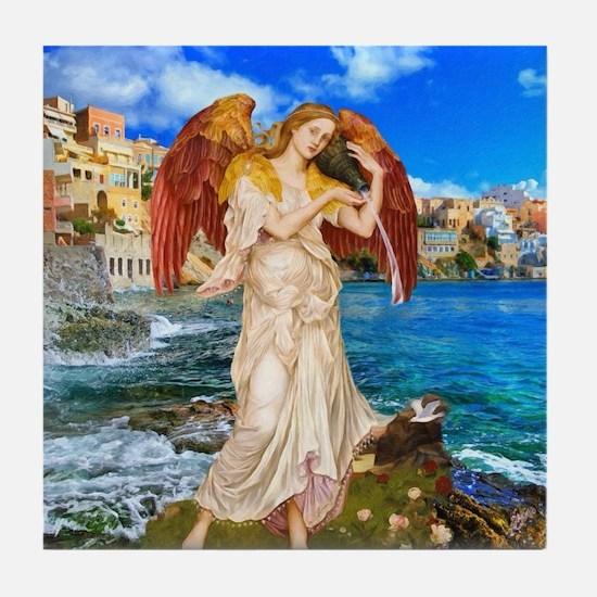 Water Angel Tile Coaster