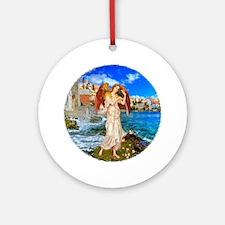 Water Angel Round Ornament