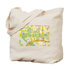 Washington, D.C. tourist map Tote Bag
