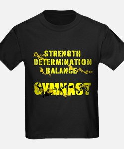 Basic Men's Gymnastics Fitted T-Shirt (dark)