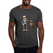 Sock Monkey Halloween Skeleton T-Shirt