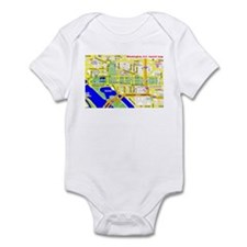 Washington, D.C. tourist map Infant Bodysuit