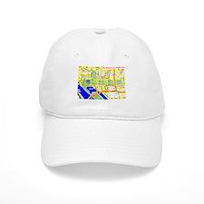 Washington, D.C. tourist map Baseball Cap