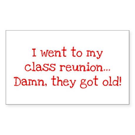 Class Reunion Rectangle Sticker