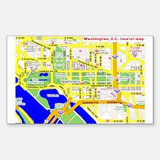 Washington, D.C. tourist map Sticker (Rectangular
