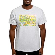 Washington, D.C. tourist map T-Shirt