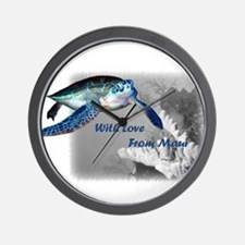 With Love From Maui Wall Clock
