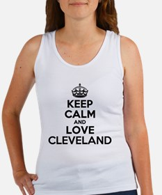 Cute Keep calm and love pigs Women's Tank Top