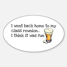 Class Reunion Oval Decal