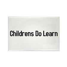 Childrens do learn Rectangle Magnet