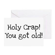 Holy Crap! You Got Old Greeting Card