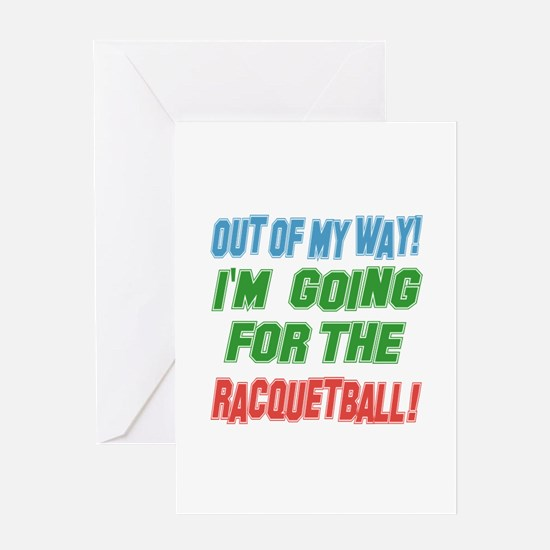 I'm going for the Racquetball Greeting Card