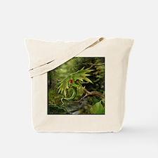 Ruby Leaf Dragon Tote Bag
