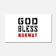 God Bless Norway Car Magnet 20 x 12