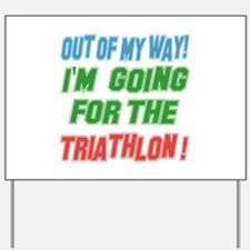 I'm going for the Triathlon Yard Sign