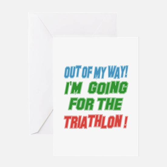 I'm going for the Triathlon Greeting Card