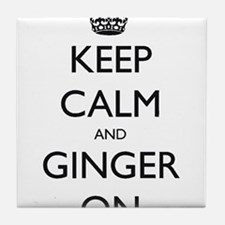 keep ginger crown.PNG Tile Coaster