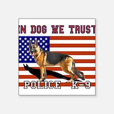 In Dog We Trust Sticker (Rect.) Sticker