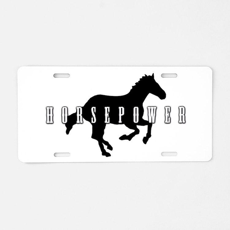 Horsepower Aluminum License Plate