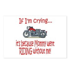 Biker Baby Cry - MOM Postcards (Package of 8)