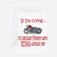 Biker Baby Cry - MOM Greeting Card