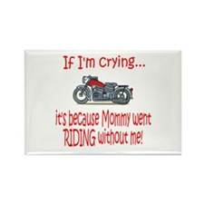 Biker Baby Cry - MOM Rectangle Magnet