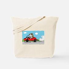 racing driver dog Tote Bag
