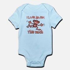 I Love Arjun Infant Bodysuit