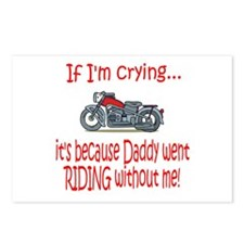 Biker Baby Cry - DAD Postcards (Package of 8)
