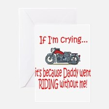 Biker Baby Cry - DAD Greeting Card