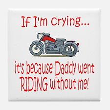 Biker Baby Cry - DAD Tile Coaster