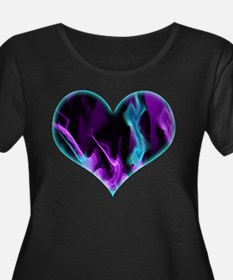 Flaming Heart Plus Size T-Shirt