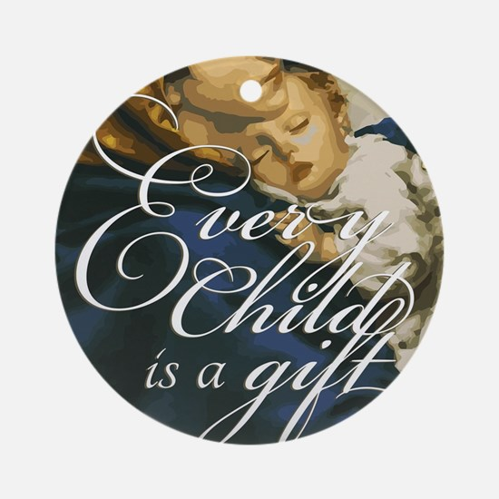 Every Child Round Ornament