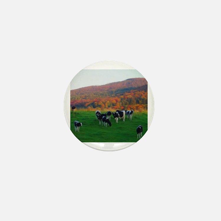 Cute Farm towns Mini Button