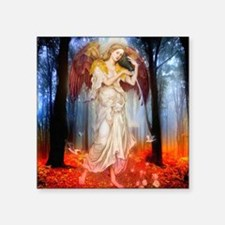 "Woodland Angel Square Sticker 3"" x 3"""