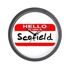 Hello My Name is Scofield Wall Clock