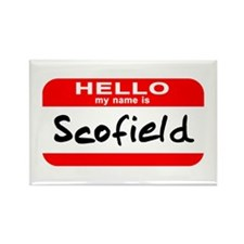 Hello My Name is Scofield Rectangle Magnet