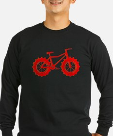 windblown red fat bike logo Long Sleeve T-Shirt