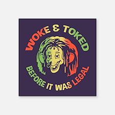 "Woke & Toked Square Sticker 3"" x 3"""