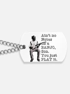 Cute Banjo Dog Tags