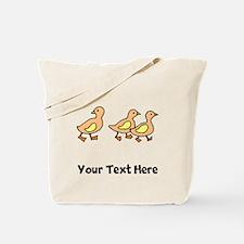 Ducklings (Custom) Tote Bag